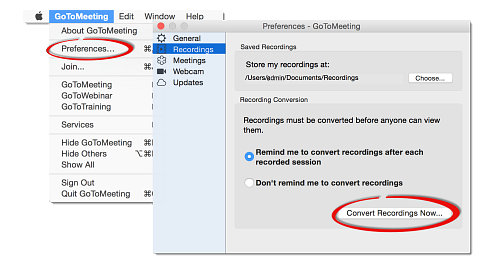 How To Record In Gotomeeting Execvision Support